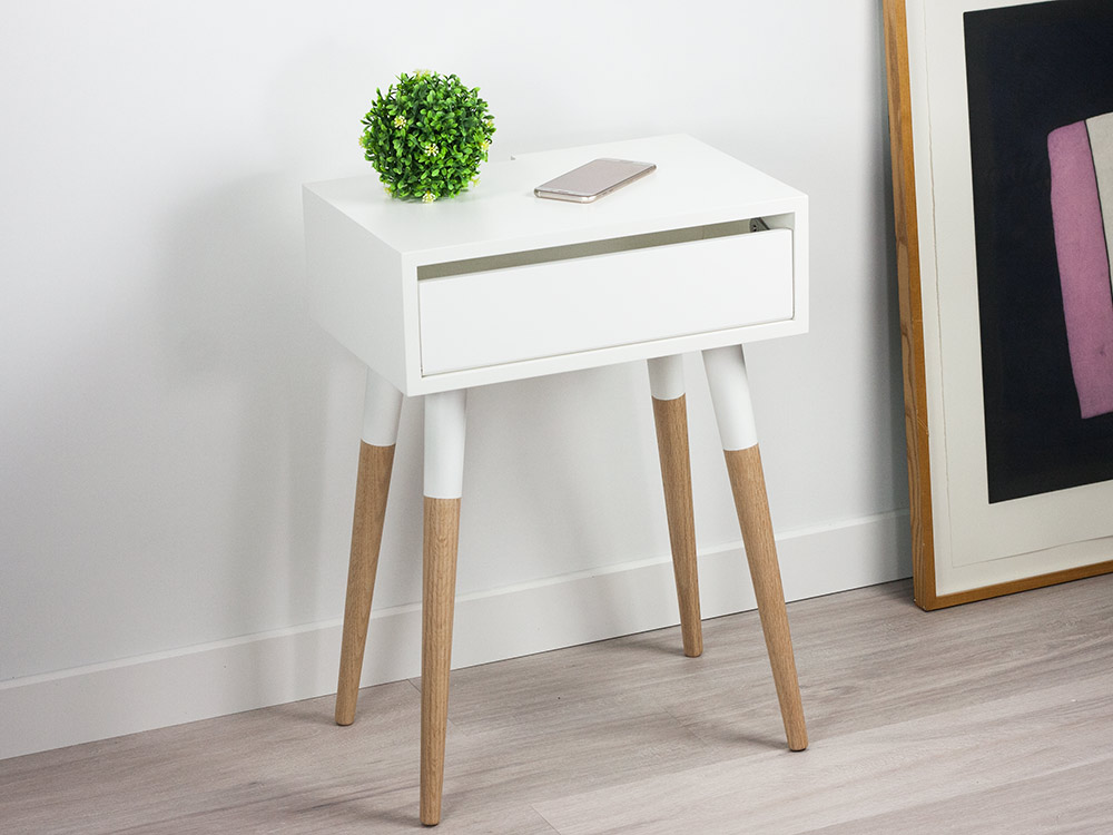 Contemporary Gray Floating Nightstand Bedside Table