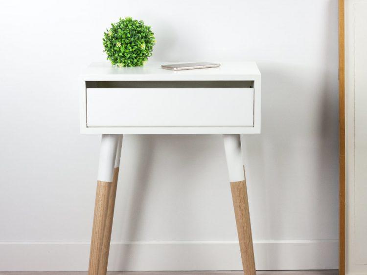 Scandinavian Design Nightstand, Danish Bedside Table