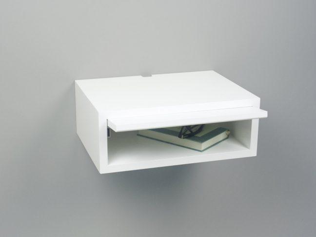 modern floating nightstand white, white floating nightstand