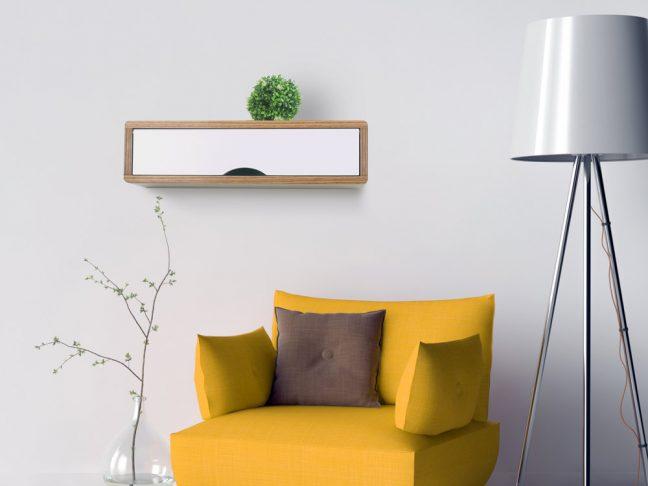 Antero Hardwood Floating Shelf, Modern Danish Wall Cabinet