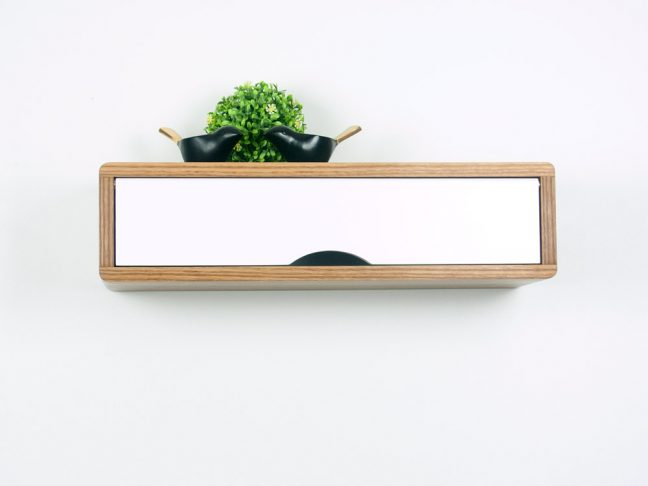 Floating Entryway Shelf, Hardwood Floating Shelf