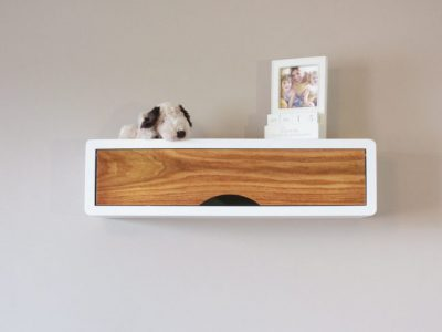 floating box shelf white, mid-century modern wall decor box