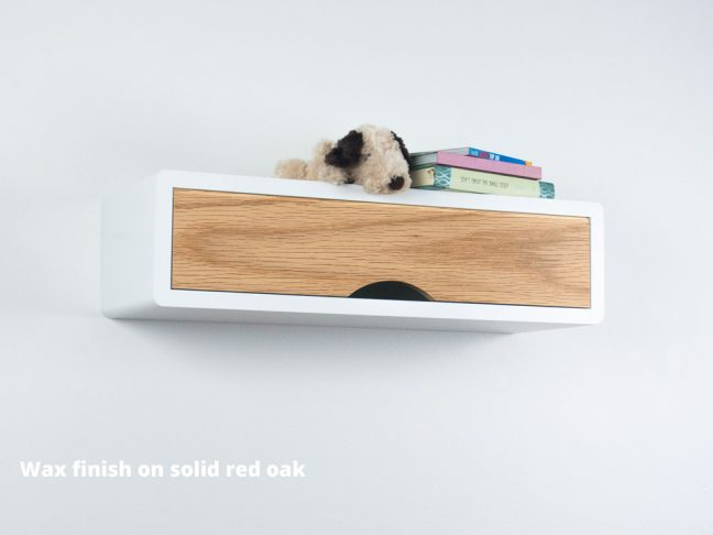 Denali Slim Modern Floating Shelf, Mid Century Modern Wall Cabinet