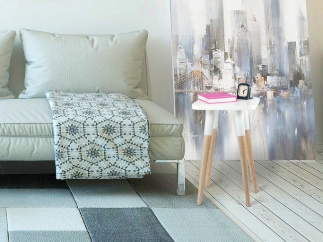 Scandinavian Design Side Table 12x12