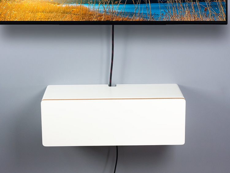 small floating media TV console