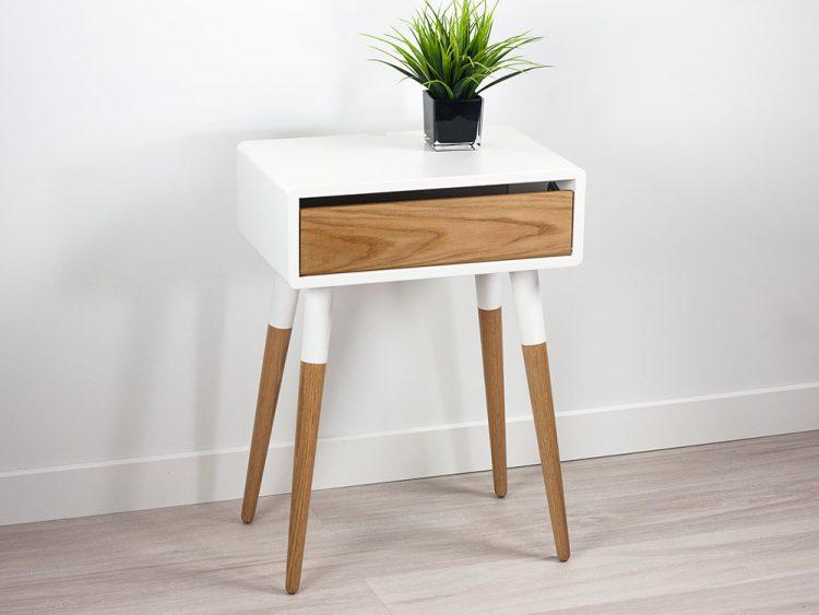 Modern Danish Nightstand, Retro Side Table