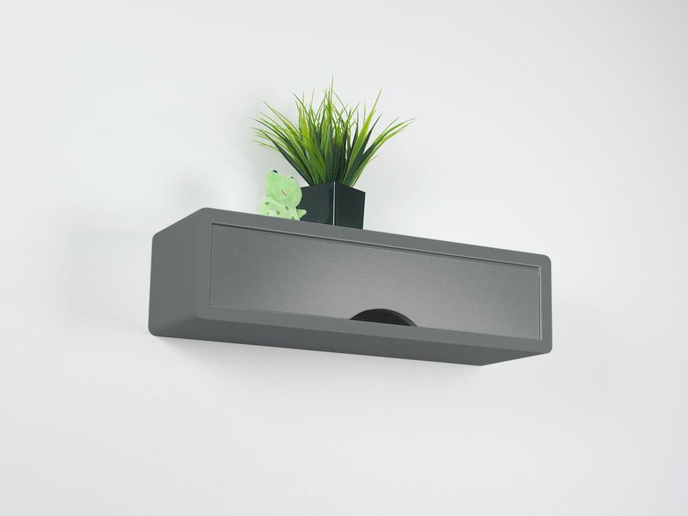 Slate Gray Contemporary Floating Shelf