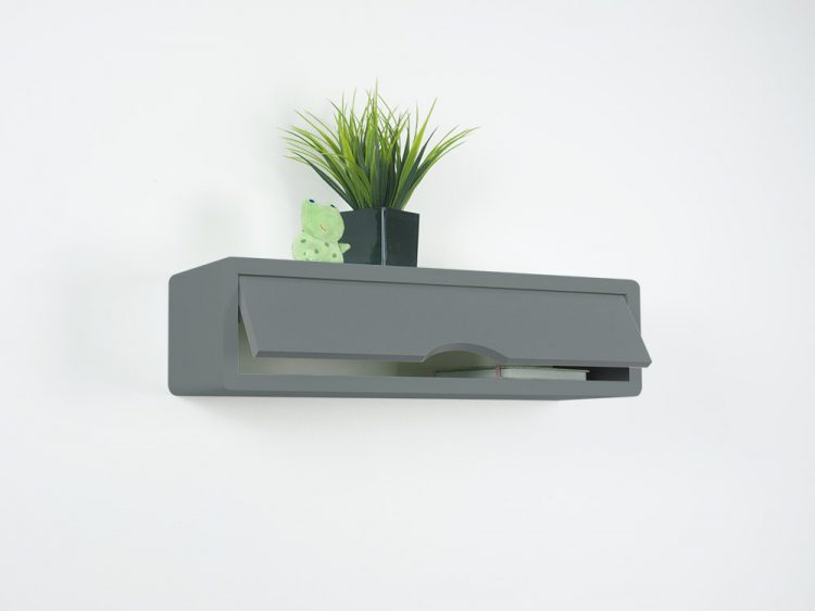 Gray Contemporary Floating Shelf