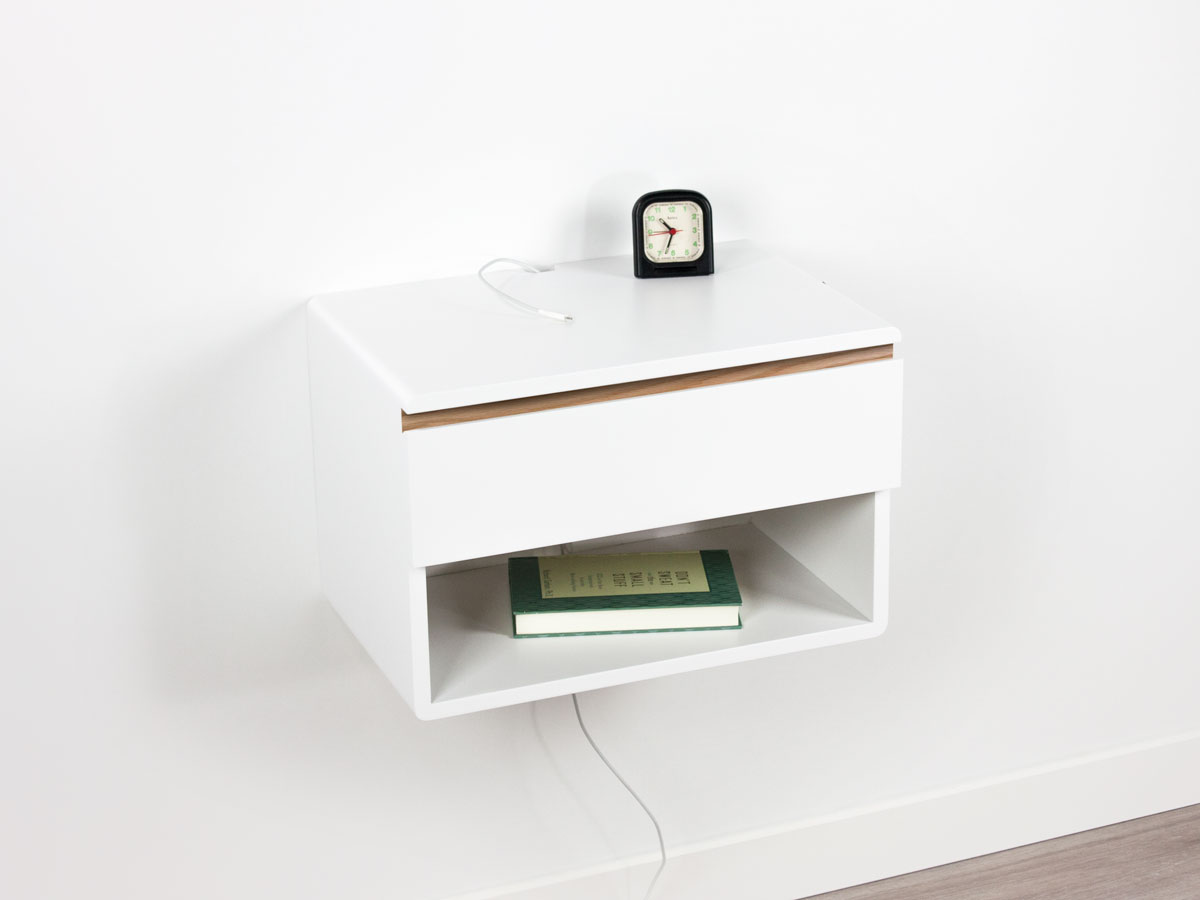 Floating Nightstand Drawer Shelf Spark Shell Craft