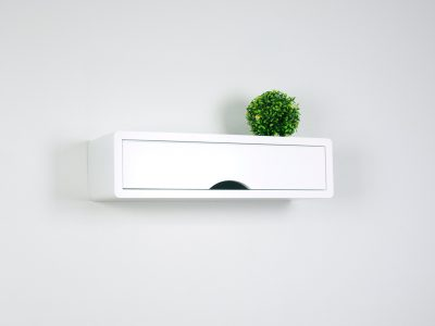 Contemporary White Floating Shelf