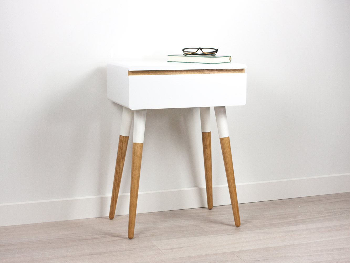 Blanca Scandinavian Nightstand, Side Table, Bed Side Table