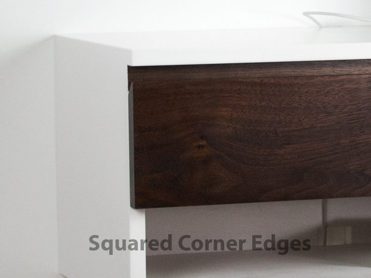 Walnut Floating Nightstand Desk